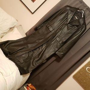 Long Maxi Leather Coat